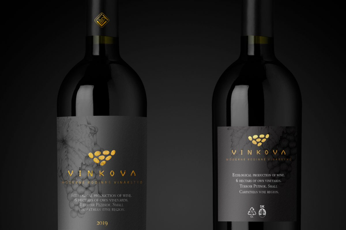 Wine label design for winery from Small Carpathian wine region