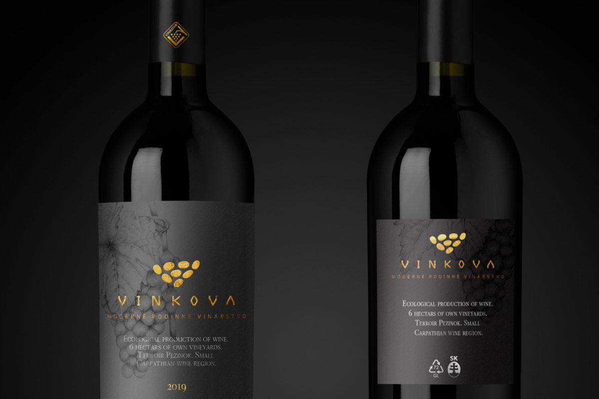 Wine label design for winery from Small Carpathian wine region