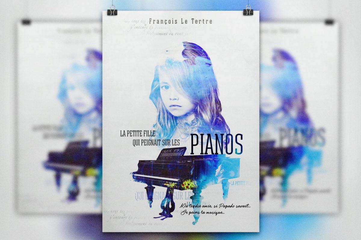 """""""La petite fille  qui peignait sur les pianos"""" book cover"""